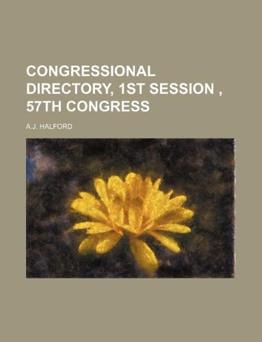 9781130459197: Congressional Directory, 1st Session, 57th Congress