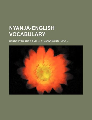 9781130496741: Nyanja-English vocabulary