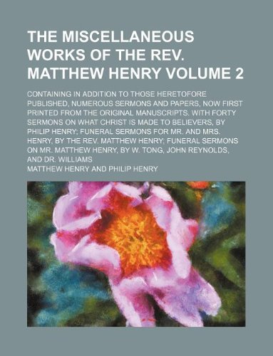 matthew henry bible commentary volume 2 pdf