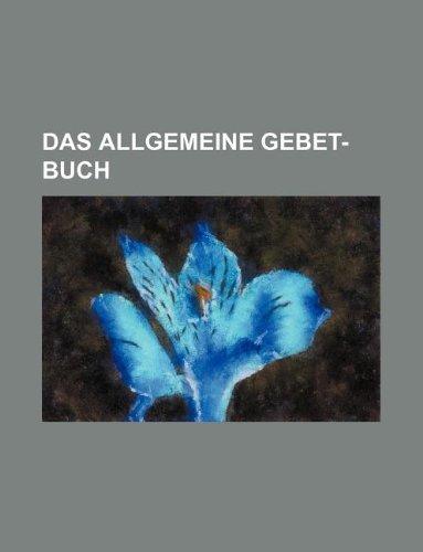 9781130592191: Das allgemeine Gebet-Buch