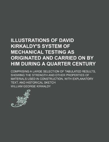 Illustrations of David Kirkaldy's System of Mechanical: William George Kirkaldy
