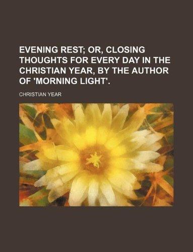 9781130660951: Evening rest