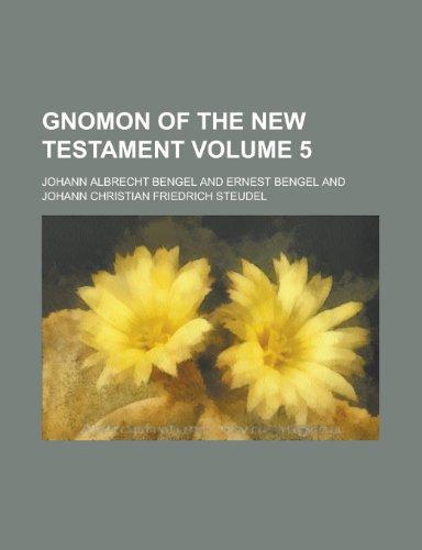 9781130722161: Gnomon of the New Testament Volume 5