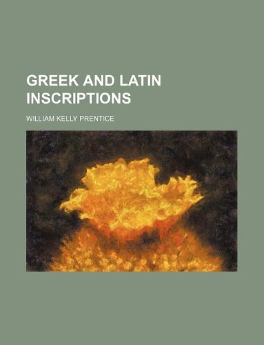 9781130824506: Greek and Latin inscriptions