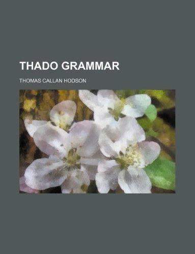 9781130871074: Thado grammar