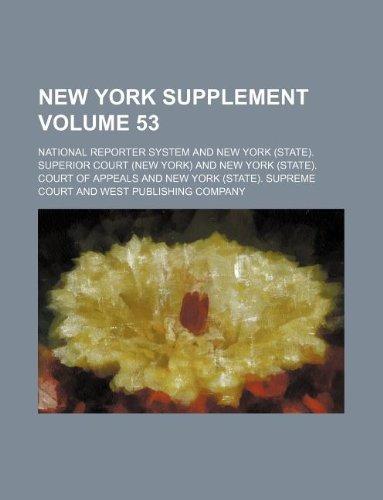 9781130947250: New York supplement Volume 53