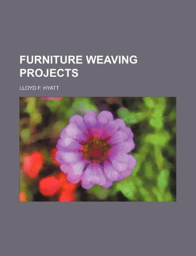9781130953527: Furniture weaving projects