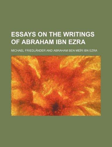 9781130975857: Essays on the writings of Abraham ibn Ezra