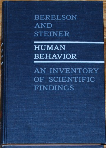 9781131038995: Human Behavior: An Inventory of Scientific Findings