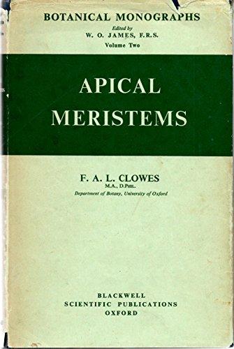 9781131375816: Apical meristems (Botanical monographs;vol.2)