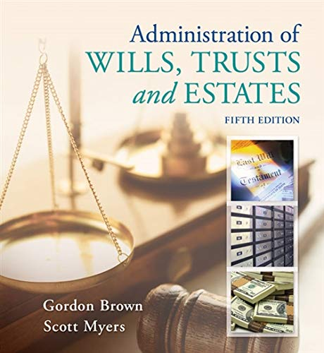 9781133016779: Administration of Wills, Trusts, and Estates