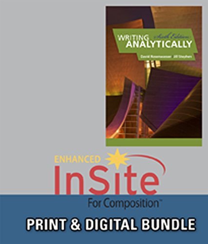 9781133024880: Bundle: Writing Analytically, 6th + InSite, 1 term (6 months) Printed Access Card