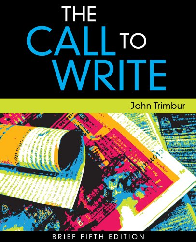 9781133024897: Bundle: The Call to Write, Brief Edition, 5th + Enhanced InSite Printed Access Card