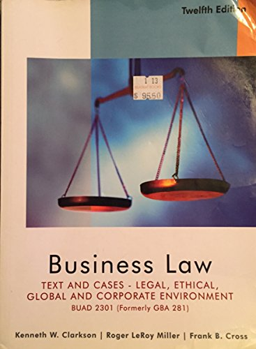 9781133046783: Business Law