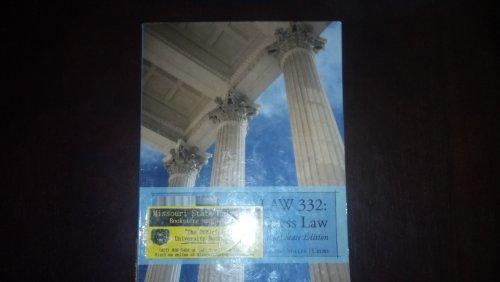 9781133067498: LAW 332: Business Law Custom