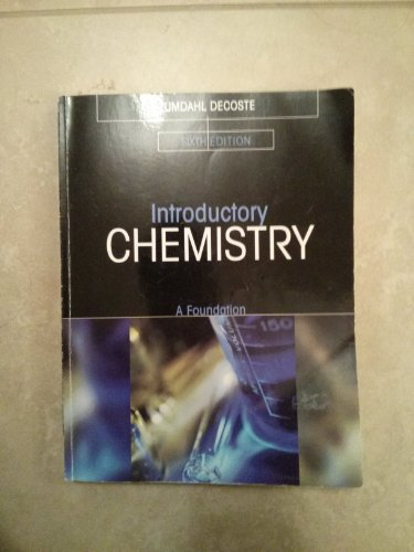 9781133068129: Introductory Chemistry (A Foundation)