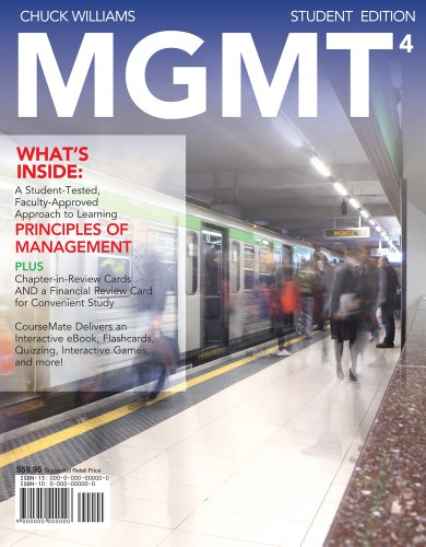 Bundle: MGMT4 (with Management CourseMate with eBook Printed Access Card), 4th + 4LTR Press Print ...