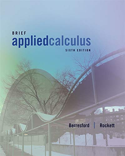 9781133103929: Brief Applied Calculus, 6th Edition