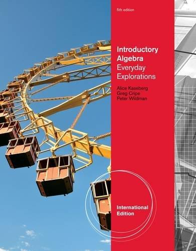 9781133104100: Introductory Algebra Everyday Explorations