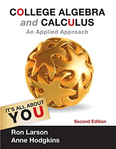 9781133105060: College Algebra and Calculus: An Applied Approach (Textbooks Available with Cengage Youbook)