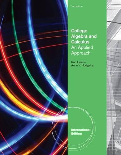9781133105183: College Algebra and Calculus: An Applied Approach, International Edition