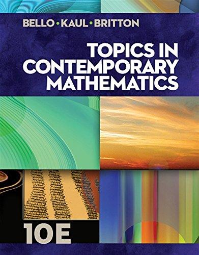 9781133107422: Topics in Contemporary Mathematics