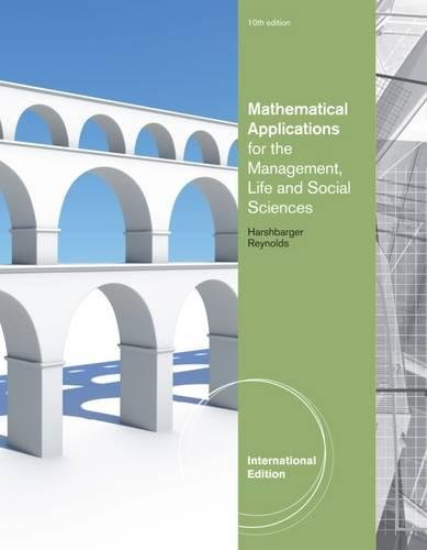 9781133108481: Mathematical Applications for the Management, Life, and Social Sciences