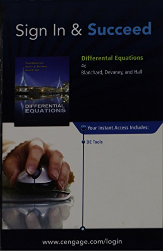 DIFFERENTIAL EQUATIONS-ACCESS CARD: Devaney, Hall, Blanchard