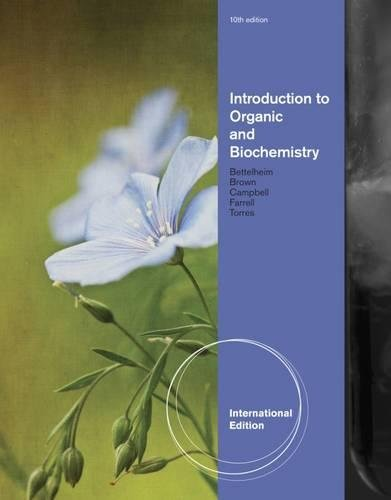 9781133109945: Introduction to Organic and Biochemistry. by Shawn Farrell ... [Et Al.]