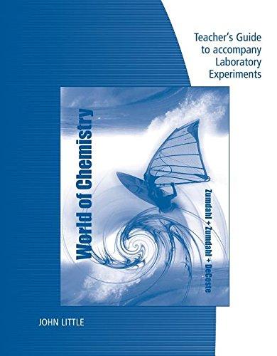 9781133110361: Zumdahl World of Chemistry Teacher's Guide to Accompany Laboratory Experiments