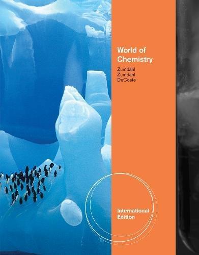 World Of Chemistry, 3Rd Ed.: Zumdahl S S,