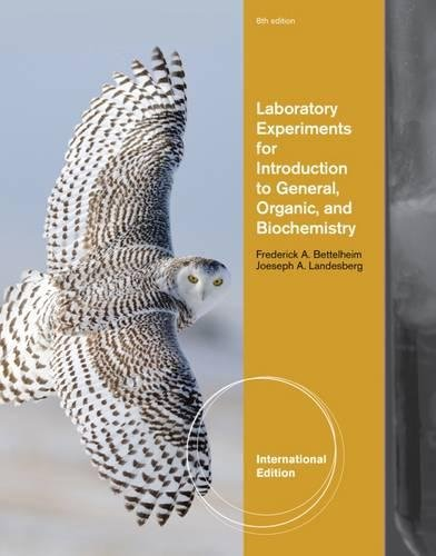 Laboratory Experiments for Introduction to General, Organic and Biochemistry, International Edition...