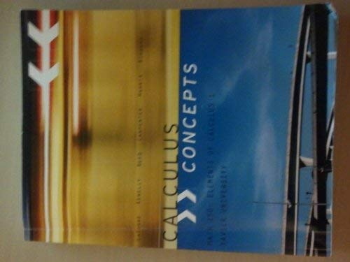 Math 150: Elements of Calculus 1 (Calculus: LaTorre; Kenelly; Reed;