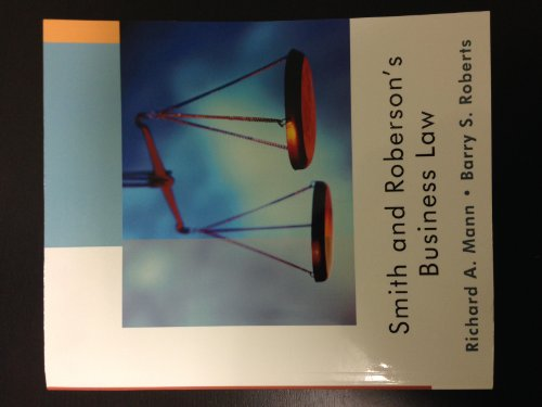 Smith and Roberson's Business Law (Custom Edition)