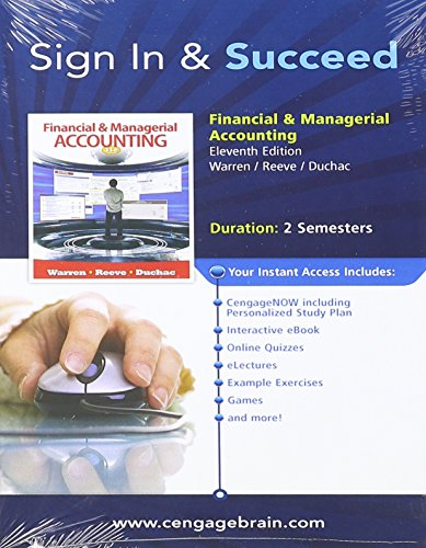 9781133160885: Bundle: Financial & Managerial Accounting, 11th + CengageNOW with eBook Printed Access Card