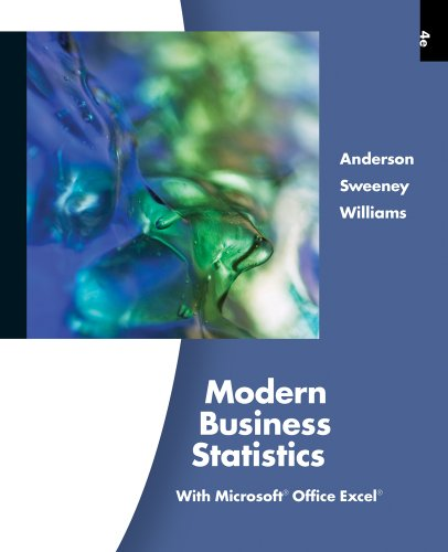 Modern Business Statistics with Microsoft Excel (with