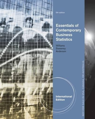 9781133187653: Essentials of Contemporary Business Statistics. David Anderson, Dennis Sweeney and Thomas Williams