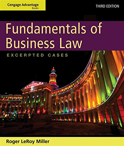 9781133187806: Cengage Advantage Books: Fundamentals of Business Law: Excerpted Cases