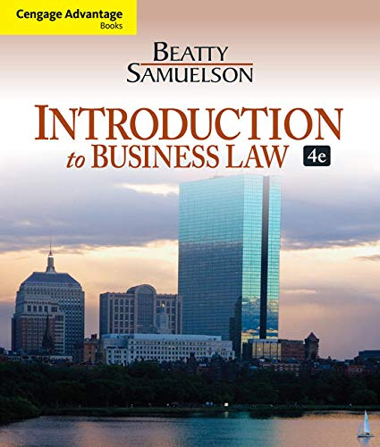 9781133188155: Introduction to Business Law, 4th Edition