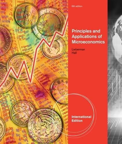 Principles & Applications of Microeconomics 6th Edition: Marc Lieberman