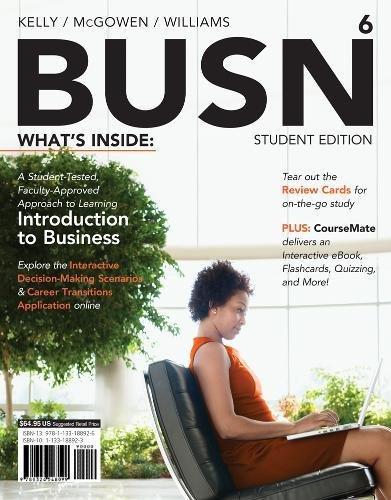 BUSN 6 (with CourseMate Printed Access Card): Kelly, Marcella; McGowen,