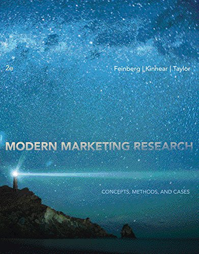 Modern Marketing Research: Concepts, Methods, and Cases: Fred M. Feinberg,