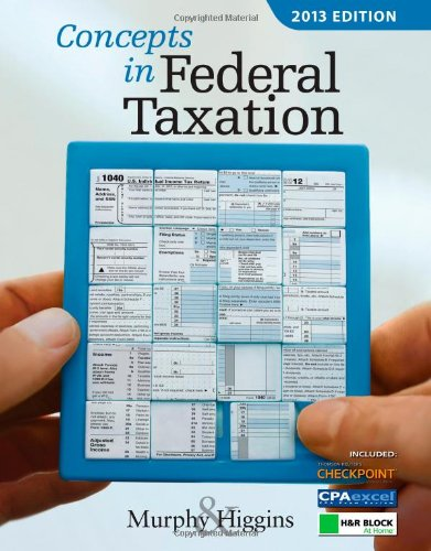 9781133189329: Concepts in Federal Taxation with CD