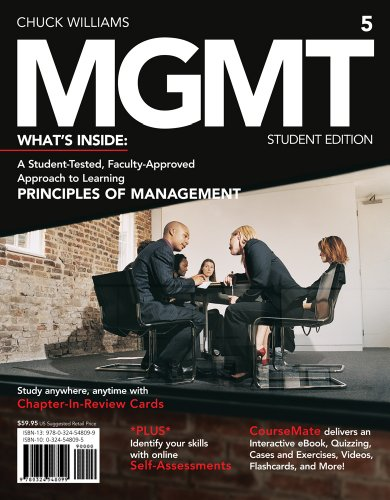 9781133190905: MGMT 5: What's Inside, A Student Tested, Faculty-Approved Approach to Learning Principles of Management