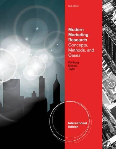 9781133191025: Modern Marketing Research Concepts, Methods, and Cases