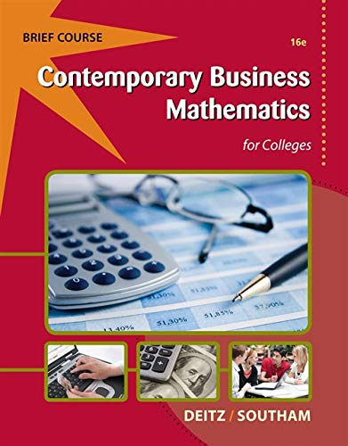 9781133191148: Contemporary Business Mathematics for Colleges, Brief (with Printed Access Card)
