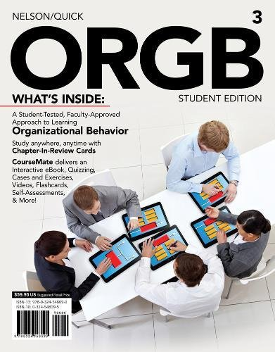 9781133191193: ORGB 3, Student Edition (with CourseMate and Transitions 2.0 Printed Access Card) (Engaging 4ltr Press Titles for Management)