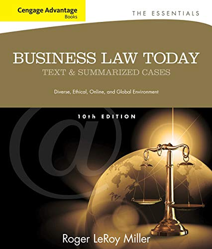 9781133191353: Cengage Advantage Books: Business Law Today, The Essentials: Text and Summarized Cases