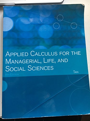 9781133227991: Applied Calculus for the Managerial, Life, and Social Sciences (Custom Edition)
