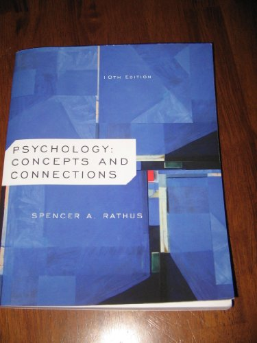 9781133228073: PSYCHOLOGY:CONCEPTS AND CONNECTIONS/ CENGAGE LEARNING /10TH EDITION